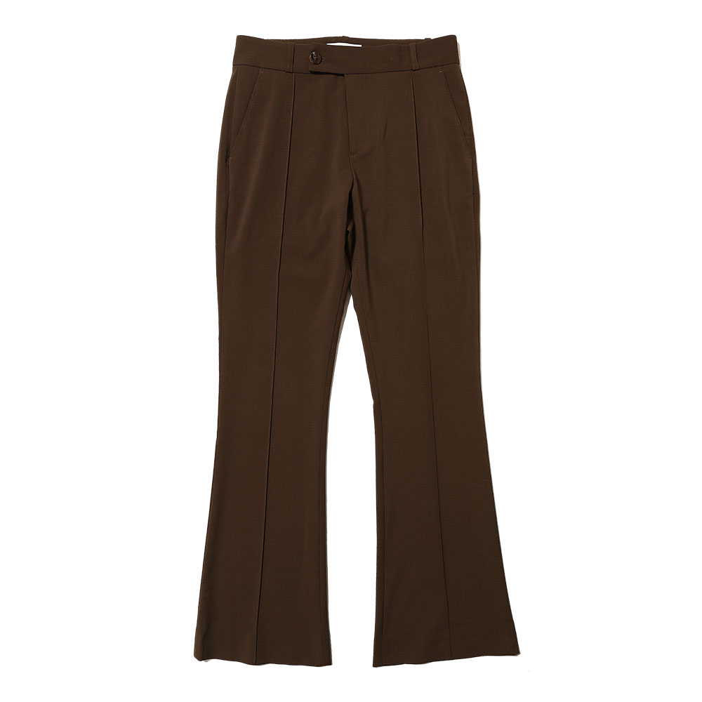 FLARE TROUSERS BROWN